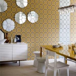 Contoh-Pemasangan-dinding-Wallpaper-Rumah-Minimalis